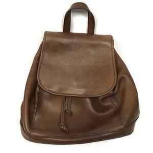 Vintage L.L. Bean brown leather backpack